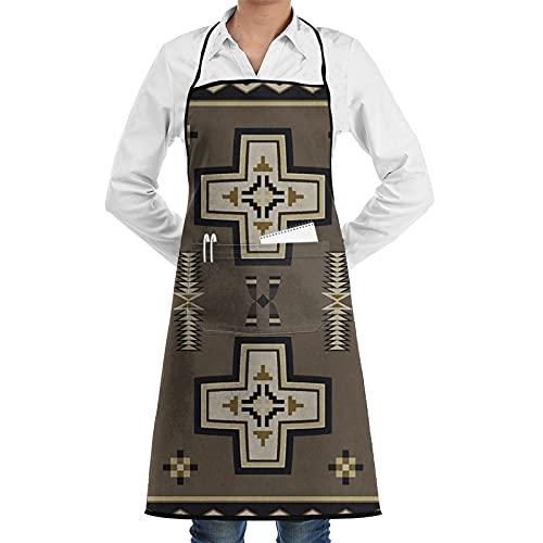 Delantal con diseño de cruz de San Cruz, rústico, tribal, nativo americano,...