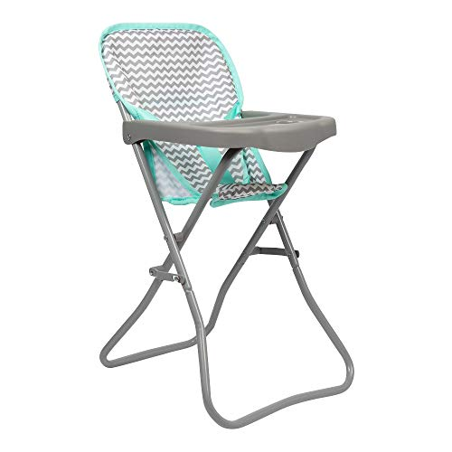 Adora 21962 Baby Doll High Chair Zig Zag Gender Neutral Design, 20.5 High, Can Fitup To 16 Dolls