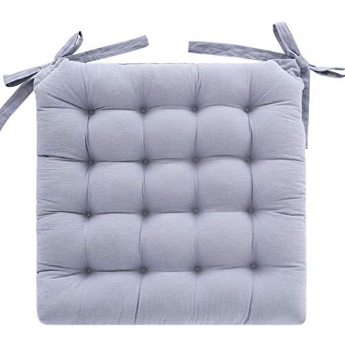 HEWEI zitkussen met dik zitkussen voor eetkamerstoelen, bureaukussens, H 45 x 45 cm
