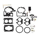 Carburetor Rebuild Kit 3302-804844002 for Mercruiser Marine 2 Barrel Rochester Carburetor 3310-866140A02 3310-864941A01 3310-806082A2