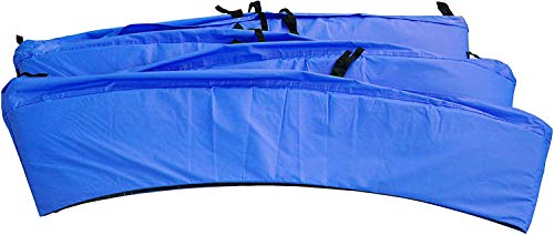 Kangaroo Hoppers Universal 12/14/15FT Trampoline Repalcement Safety Pad,Waterproof Surround Spring Foam Cover for Round Frame (Blue, 15FT)