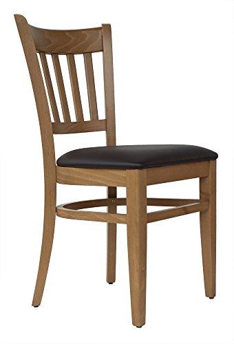 abritus Set 2 Stühle Stuhl Buche massiv Honig-Eiche gepolstert braun »T002«