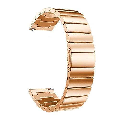 Banda de Reloj, Correas 18 mm 20 mm 22 mm Banda de Reloj Universal Pulsera de eslabones de Repuesto de Acero Inoxidable (Color de Banda: Dorado, Ancho de Banda: 18 mm)