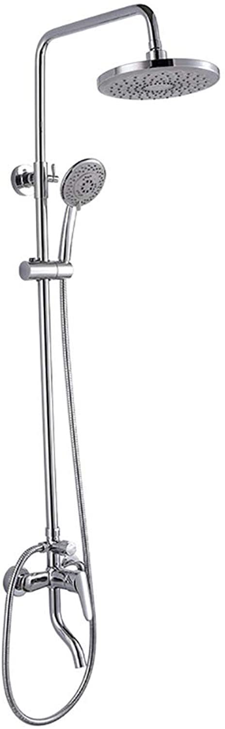 Mmsww Shower, Copper into the wall stainless steel rod shower sprinkled triple-type rain roof rain shower faucet