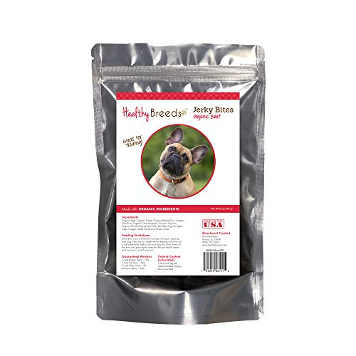 Healthy Breeds French Bulldog Jerky Bites Beef Recipe Dog Treats 5 oz