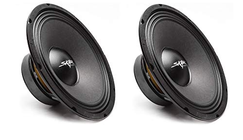 (2) Skar Audio FSX10-4 400-Watt 10-Inch 4 Ohm MID-Range Loudspeakers - 2 Speakers, (2) FSX10-4
