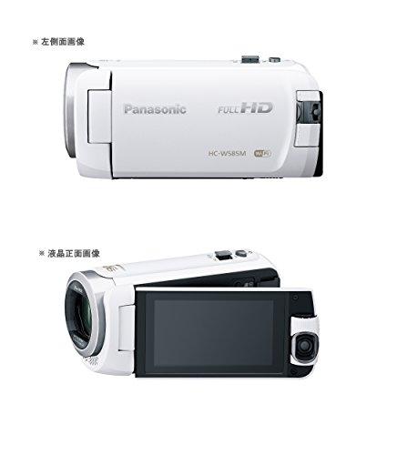 『パナソニック HDビデオカメラ W585M 64GB ワイプ撮り 高倍率90倍ズーム ホワイト HC-W585M-W』の3枚目の画像