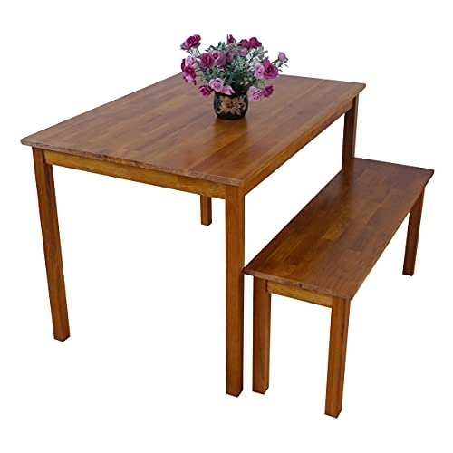 Rongyuan OAK Dining Table Lacquer Finished Rustic Design 110 x 75 cm