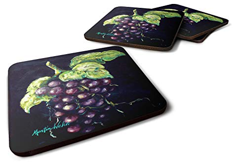 Caroline's Treasures MW1362FC Welch's Grapes Foam Coaster Set of 4 Untersetzer, Mehrfarbig, 3 1/2 x 3 1/2