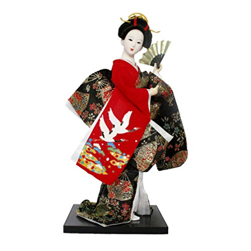 STOBOK Geisha Doll Ornaments Handicrafts Statuette Japanese Resin Creative Folk Ethnic Figurine Gift for Home Store Office Bedroom Gardening