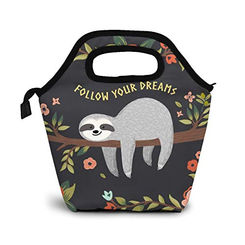 Cute Sloth Insulated Lunch Portable Carry Tote Picnic Storage Bag Cartoon Animal Pattern Lunch Box Food Bag Gourmet Handbag Cooler Warm Pouch Tote Bag For Work Office