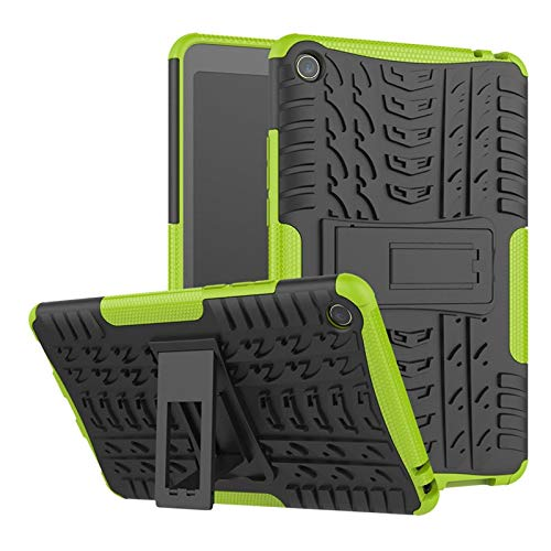 GHC PAD Cases & Covers For Xiaomi Mi Pad miPad 4 8'', High Duty Cover Silicon Shockproof Bracket Stand Cover for Xiaomi Mipad 4 Kids (Color : Green)