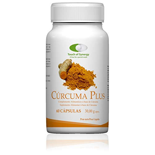 Cúrcuma Plus Longvida 60 cápsulas. Extracto seco de Cúrcuma (Cúrcuma longa estandarizado al 23% curcuminoides) (500 mg).