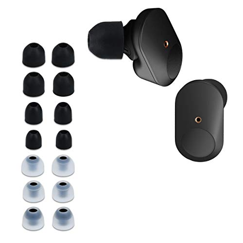 kwmobile 14x Almohadillas Compatible con Sony WF-1000XM3 - Almohadilla de Silicona para Auriculares - 4 tamaños