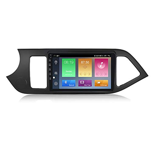 YLCCC Coche Estéreo Vehículo GPS Adecuado para KIA Mañana 2011-2017 Coche Estéreo Sat Nav Capacitivo Touch HD Carplay Radio Multimedia Multimedia Radio Incorporado Tracker,4Core WiFi:2+32G