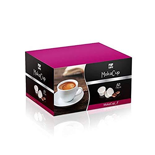 Pop Caffe\' Moka Cup .1 Intensa 50 capsule compatibili Domo, Espresso Cup