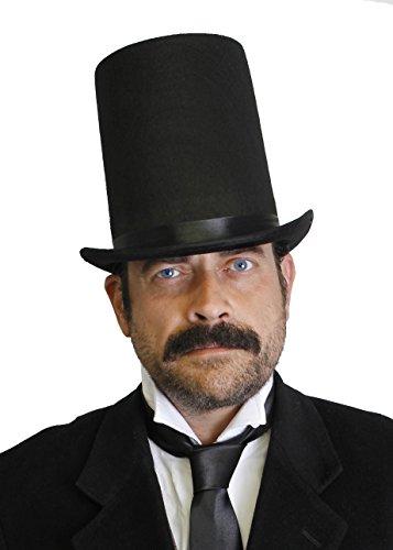 I LOVE FANCY DRESS LTD Accessoire pour Adulte avec ce Chapeau Haut de Forme Noir en Feutre avec Bande élastique intérieur pour Un Excellent maintient sur la tête.