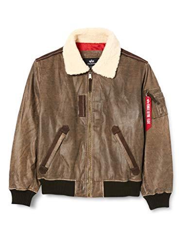 ALPHA INDUSTRIES Herren Injector Leather Injektor III Leder, Vintage Brown, L