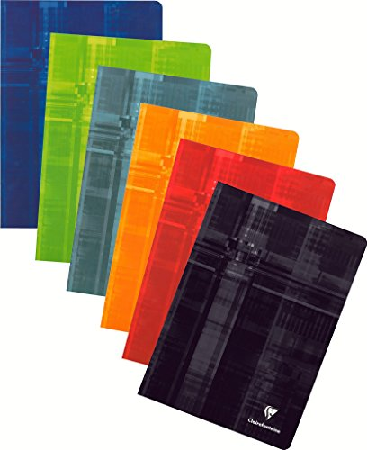 Clairefontaine 63122C Schulheft (DINA4, kariert, 90g, 40 Blatt) 1 Stück farbig sortiert