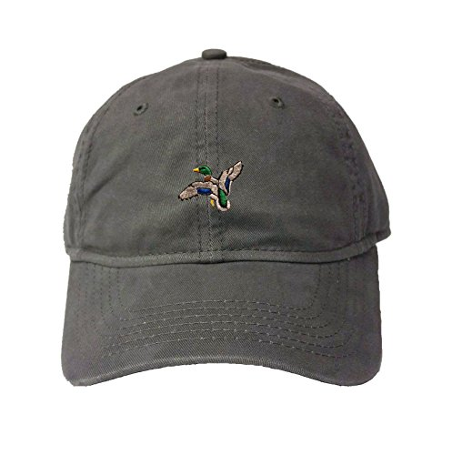 Adjustable Charcoal Adult Mallard Duck Embroidered Deluxe Dad Hat