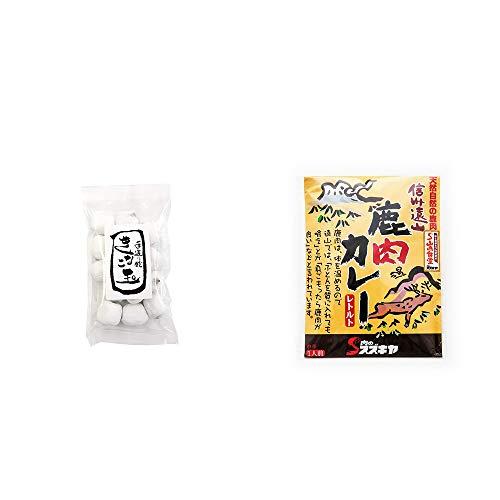 [2点セット] きなこ玉(160g)・信州遠山 鹿肉カレー 中辛 (1食分)