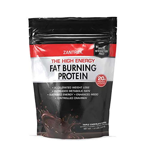 Zantrex High Energy Fat Burning Protein, Triple Chocolate Fudge, 22 Ounces