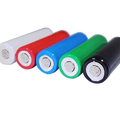 240PCS Pre-Cut 18650 Battery Wraps 29.5mm Plat en PVC batterie de la chaleur Gaine thermorétractable Wrap 12 couleurs 240 pièces pour 18650 18500 Batterie