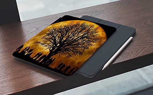 MEMETARO Funda para iPad 10.2 Pulgadas,2019/2020 Modelo, 7ª / 8ª generación,Astronomical Wonders Psychedelic Starry Sky Árbol y Gente Sombra Smart Leather Stand Cover with Auto Wake/Sleep