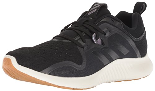 adidas Women's Edgebounce Mid Running Shoe, Black/Black/Night Metallic, 8.5 M US