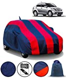 Fabtec Car Body Cover for Maruti Swift Dzire (2012-2016) with Mirror Antenna Pocket and Storage Bag Combo (Red & Blue)