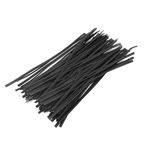 Tangser Plastic Black 6' Twist Ties,Cable Ties,Bag Ties 500 Pcs for Bags, Gardening Tools or Christmas Tree(6 inch, Black)
