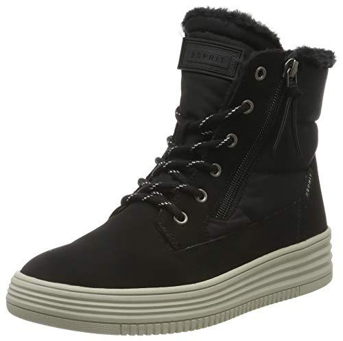 ESPRIT Damen Luni Bootie Hohe Sneaker, Schwarz (Black 001), 38 EU