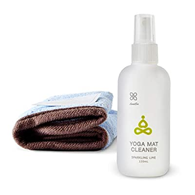 Yoga Mat Cleaner Spray - Natural Yoga Mat Cleaner with Herb Essential Oil, Free Microfiber Cleaning Towel, No Slippery Residue, Cleans, Safe for All Types of Yoga Mats (3. Sparkling Lime)
