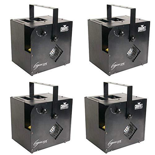 Chauvet Hurricane Haze 2D Water Based DJ Smoke Fog Machine w/Remote (4 Pack)