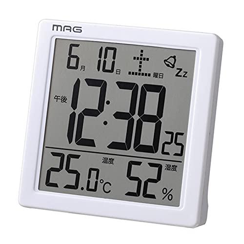 MAG(マグ) 目覚まし時計 デジタル カッシーニ バックライト スヌーズ機能付き ホワイト T-726WH-Z