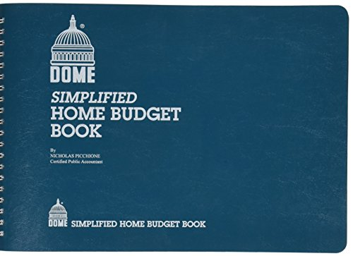 Dome Publishing Co Inc Home Budget Book, 64 Pages, 10-1/2 x 7-1/2 Inches, Teal (DOM840)