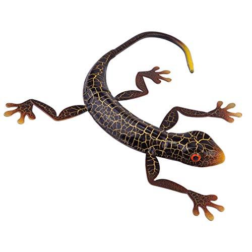 YARNOW Gecko Metal Wall Art Esculturas de Animais Parede Decoração Da Parede De Inspiração Arte Cerca de Parede Casaco Ganchos Cabide 3D Decorações De Parede Ao Ar Livre para O Pátio