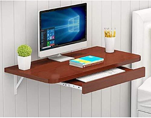 ACCDUER Escritorio de computadora Mesa Plegable hogar Simple Ahorro de Espacio de Pared Escritorio de la computadora de Escritorio pequeño apartamento de Pared Mesa de Desayuno (Color : 3)