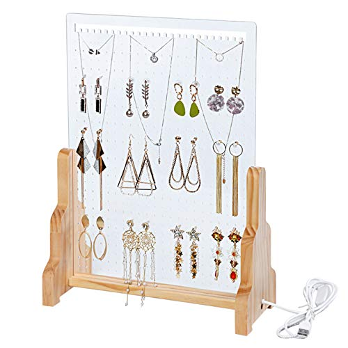 Estante de joyería acrílico vibrato transparente con el mismo almacenamiento estante de exhibición de joyería estante de pendiente creativo decoración del hogar cosas buenas