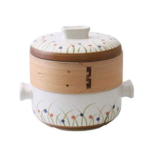 WCY Céramique Casserole, Faitout Pot ragoût de Casserole en céramique avec Une température de Pot de Potage de Couvercle élevé et de Grande capacité yqaae
