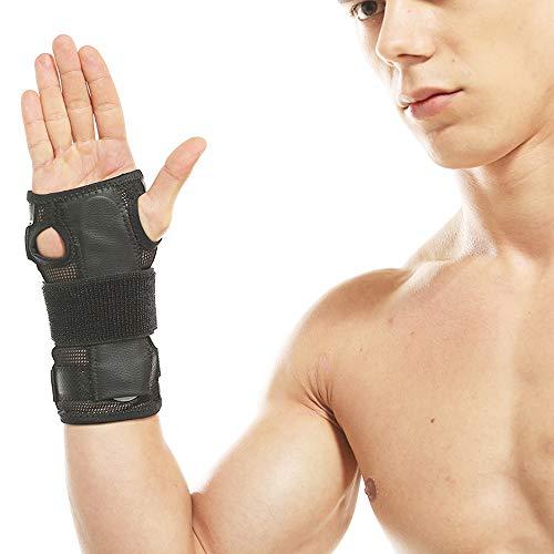 Schutzbekleidung Klammer-Handgelenk-Verstauchungs-Bruch-Arthrose mit Stahlplatten-Manschetten-Rehabilitations-Ausrüstungs-Manschetten JFCUICAN ( Color : Schwarz , Size : One Size )