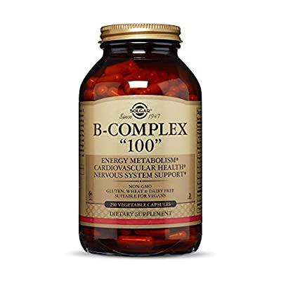 "Solgar Vitamin B-Complex ""100"" Extra High Potency Vegetable Capsules - Pack of 250"
