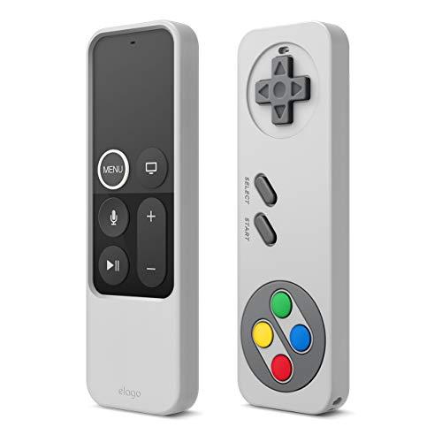 elago R4 Retro Apple TV Fernbedienung Hülle Kompatibel mit Apple TV Siri Remote 4K 5. 4. Generation Schutzhülle Case - Klassisches Controller-Design [Nicht-funktional], Schutz, Handschlaufe (Grau)