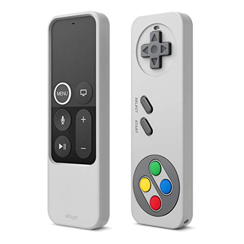 elago R4 Retro Apple TV Fernbedienung Hülle Kompatibel mit Apple TV Siri Remote 4K 5. 4. Generation Schutzhülle Case - Klassisches Controller-Design [Nicht-funktional], Schutz, Handschlaufe (Grau)