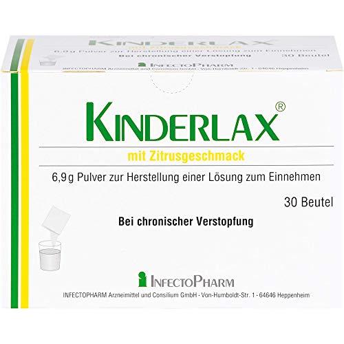 KINDERLAX mit Zitrusgeschmack Pulver bei chronischer Verstopfung, 30 St. Beutel