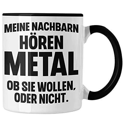 Trendation - Heavy Metal Geschenke Rockmusik Geschenk Tasse Lustig Deko (Black)