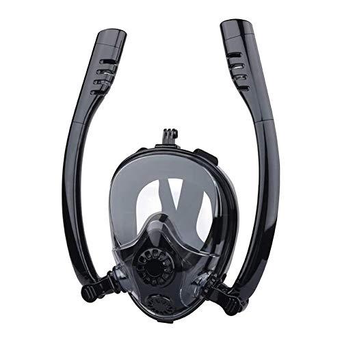 LYYAN Suministros de Buceo Nuevo Máscara de Buceo Integral Easybreath Adultos Máscara Snorkel Cara Completa 180° Vista Panorámica Anti-Niebla Anti-Fugas Gafas de Bucear Gafas de Natación Deportes