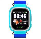 SmartWatch Teléfono Niño Niña, Pantalla táctil Reloj Inteligente Localizador GPS LBS WiFi con Chat de Voz SOS Cámara Despertador Reloj Digital Watch Regalo Estudiante Compatibles con iOS Android,Azul