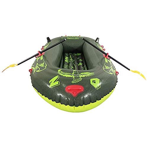Lancha Neumática, 3 Persona PVC Inflable Kayak Canoa Remo Bote De Aire para Pesca, Deriva Y Buceo Balsa Inflable