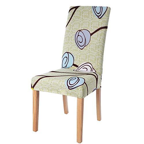 Kdyi 1/2/4 pièces Impression Florale Extensible élastique Chaise Couvre Spandex pour Mariage Salle à Manger Chaise de Bureau Couverture, 23,4 pièces